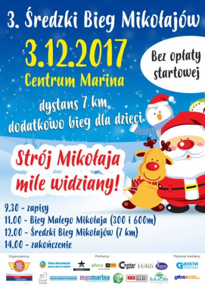 Zapraszamy do udziału w 3. Średzkim Biegu Mikołajów!