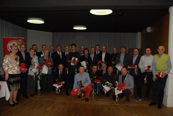 Jubileusz 60-lecia Ruchu Honorowego Krwiodawstwa Polskiego Czerwonego Krzyża.